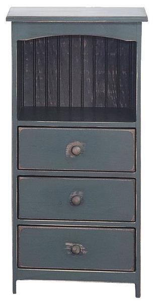 Amish Three-Drawer Pine Storage Chest