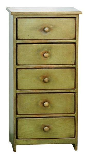 Amish 5 Drawer Pine Wood Chest of Drawers