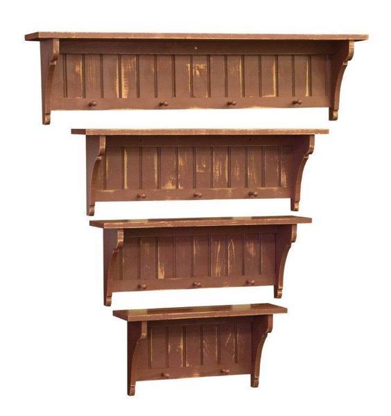 Amish Dawson Plate Shelf in Eastern Pine Wood