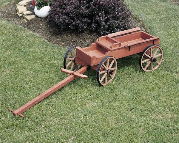 Amish Made Rustic Buckboard Wagon
