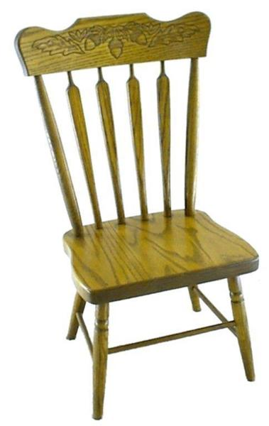 Amish Oak Wood Arrowback Colonial Childs Chair