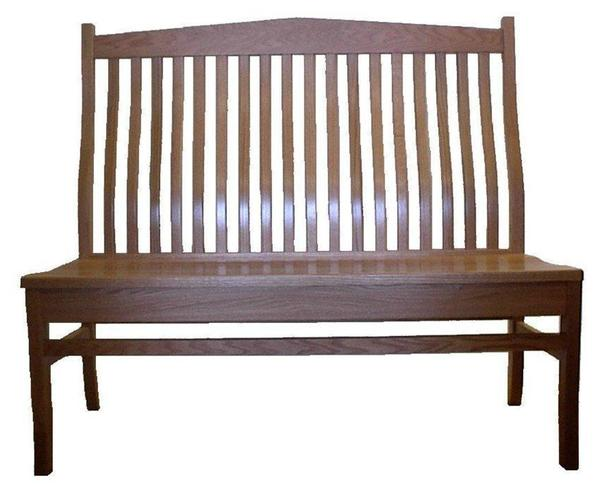 Amish Arched Back Mission Bench