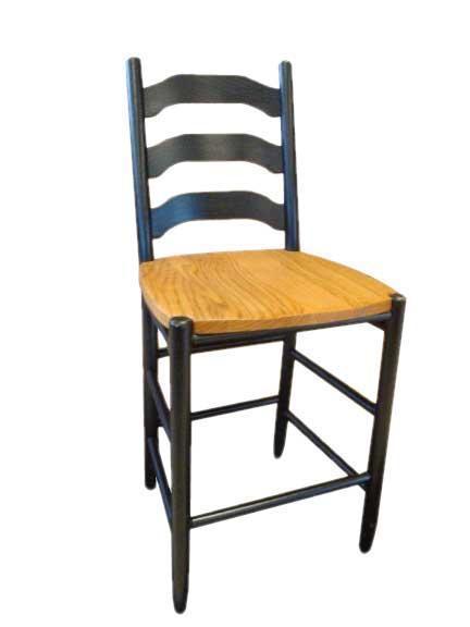 Amish Four Step Shaker Barstool