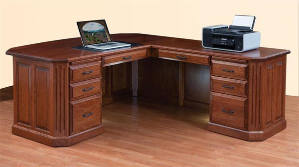Amish Fifth Avenue Executive L-Desk
