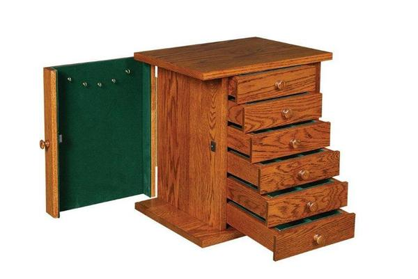Amish Shaker Jewelry Chest with Mirror