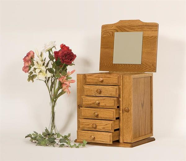 Amish Made Deluxe Shaker Jewelry Chest