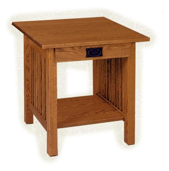 American Mission Large End Table with Drawer