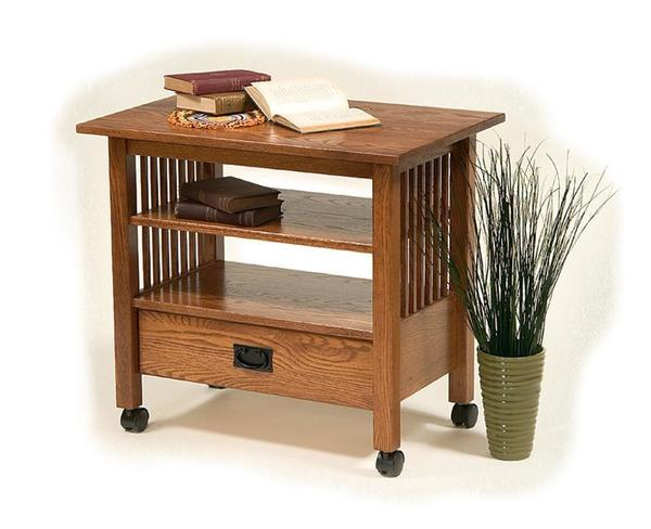 American Mission TV Stand with Casters