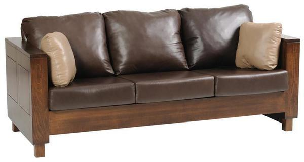 Amish Handcrafted Urban Sofa with Wood Frame
