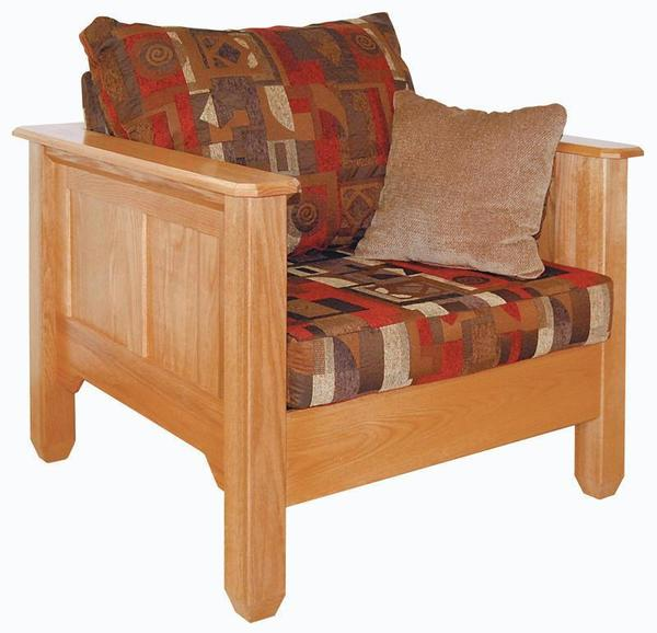 Amish Wood Frame Shaker Accent Chair