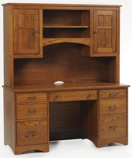 Amish Prairie Mission Desk with Hutch Top