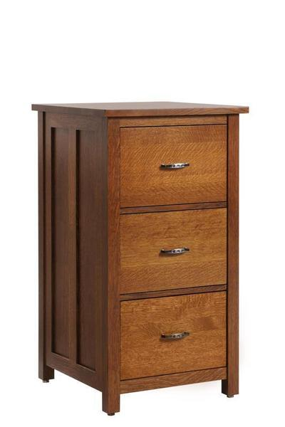 Amish Coventry Mission Three Drawer File Cabinet