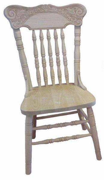 At Home Kitchen Chairs.Amish Deluxe Pressback Kitchen Chair