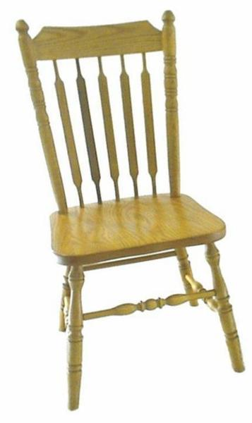 Amish Plain Cattail Country Dining Chair