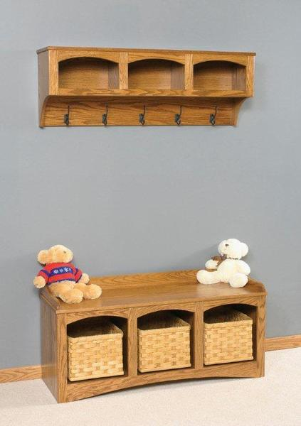 Amish Mission Shelf with Storage
