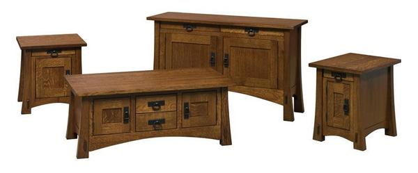 Amish Small Montana Mission End Table