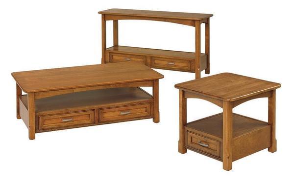 Amish Salzburg Open Shaker Sofa Table