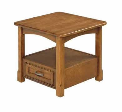 Amish Salzburg Open Shaker End Table