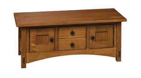 Amish Lucern Mission Cabinet Coffee Table