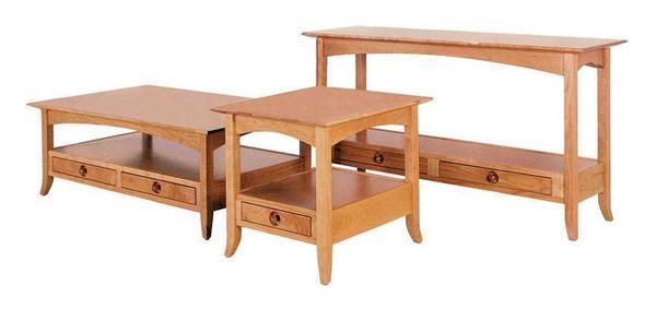 Amish Geneva Open Coffee Table