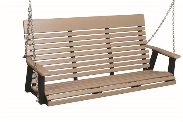 Berlin Gardens Casual-Back 5' Poly Porch Swing