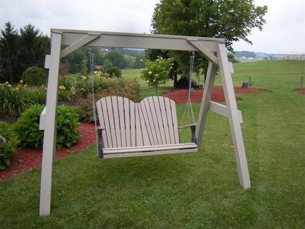 Berlin Gardens Vinyl A-Frame Swing Stand