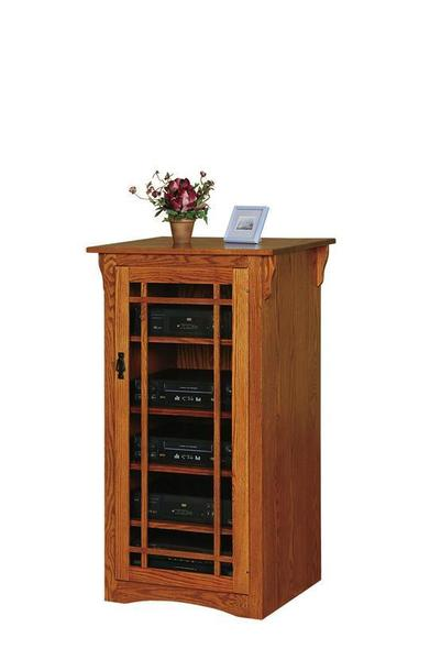 Amish Arts and Crafts Mission Stereo Cabinet