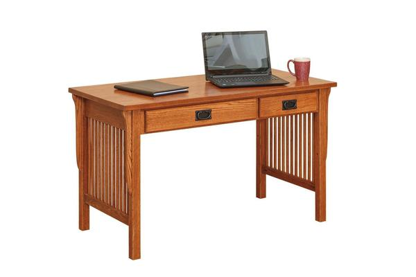 Amish Mission Writing Desk with Optional Desk Top Hutch Organizer