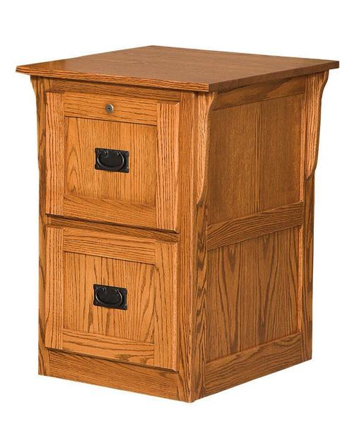 Amish Mission Flat Panel Two Drawer File Cabinet