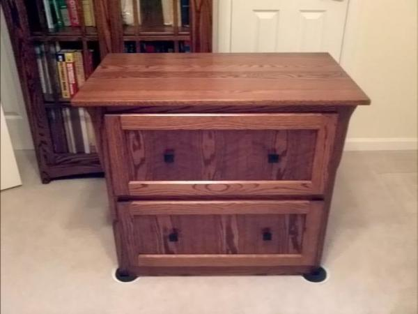 Amish Mission 2 Lateral Drawer Filing Cabinet