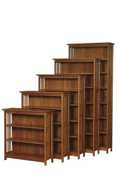Amish Arts and Crafts Mission Bookcase