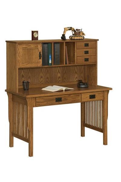 Amish Mission Writing Desk with Hutch Top