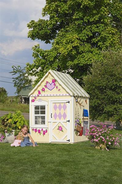 Amish Handcrafted Sweetbriar Child's Playhouse