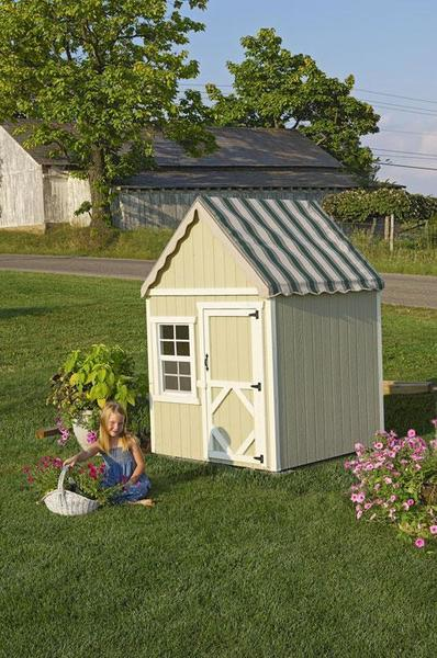 Amish Handcrafted Sweetbriar Child's Playhouse Kit