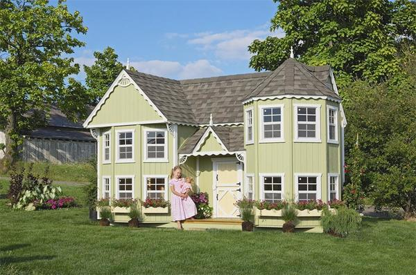 Amish Handcrafted Sara's Victorian Mansion Playhouse Kit