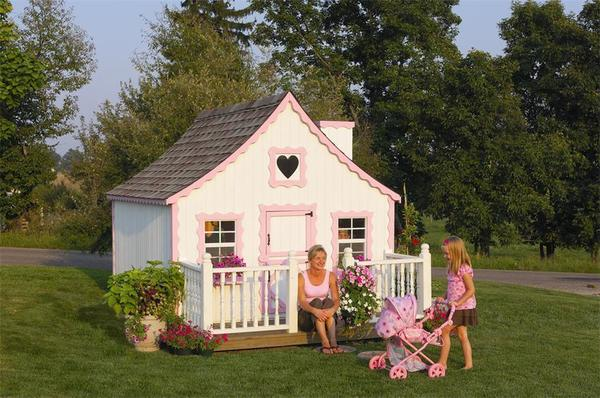 Amish Handcrafted Gingerbread Cottage Playhouse