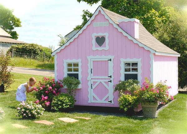 Amish Handcrafted Gingerbread Cottage Playhouse Kit