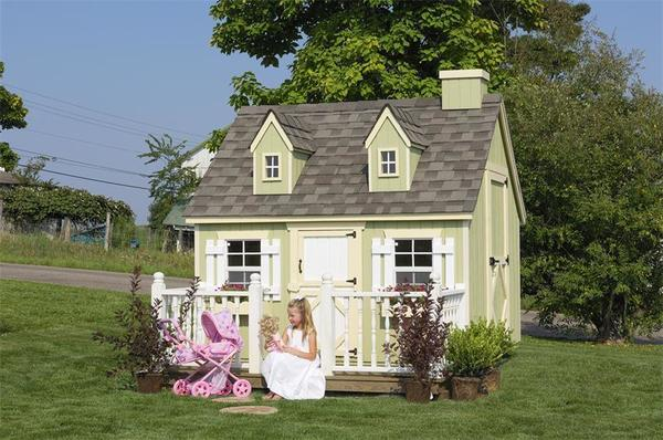 Amish Handcrafted Cape Cod Playhouse Kit