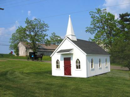 Amish Handcrafted Little Cottage Chapel Playhouse