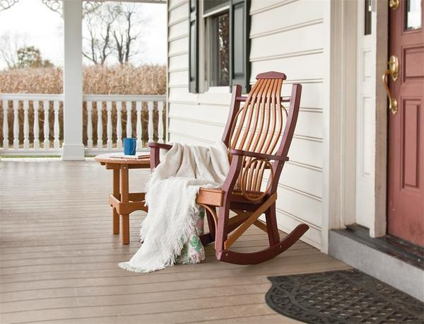 Amish Poly Porch Rocker and Table Set