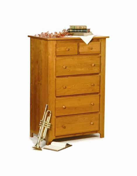 Amish Traditional Shaker Chest of Drawers
