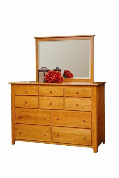 Amish Shaker Master Deluxe Double Dresser