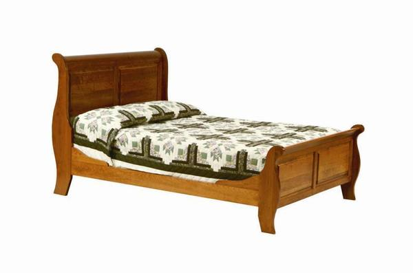 Amish Royal Classic Captain Sleigh Bed
