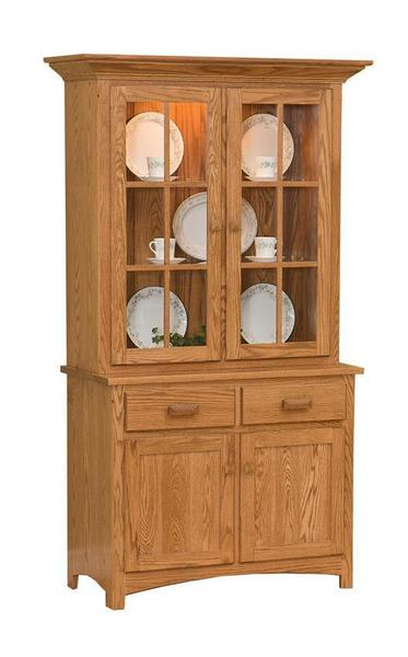 Amish Solid Wood Two Door China Hutch