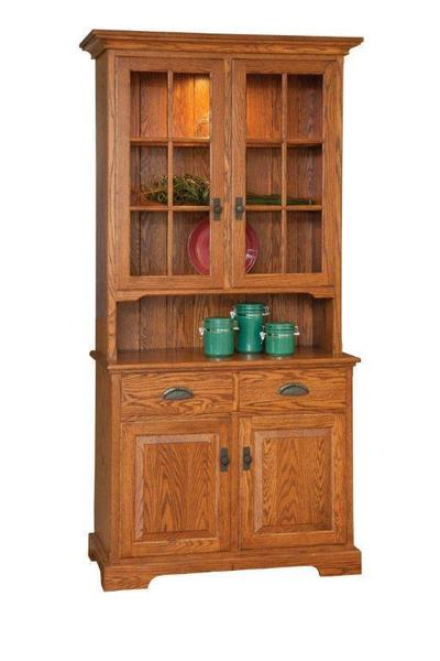 Amish York Solid Wood Hutch - Lifetime Warranty