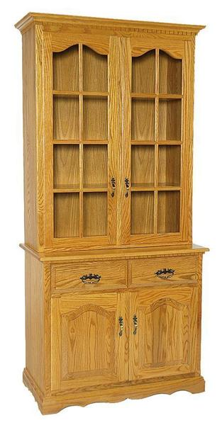 "Amish 40"" Full Door China Cabinet"