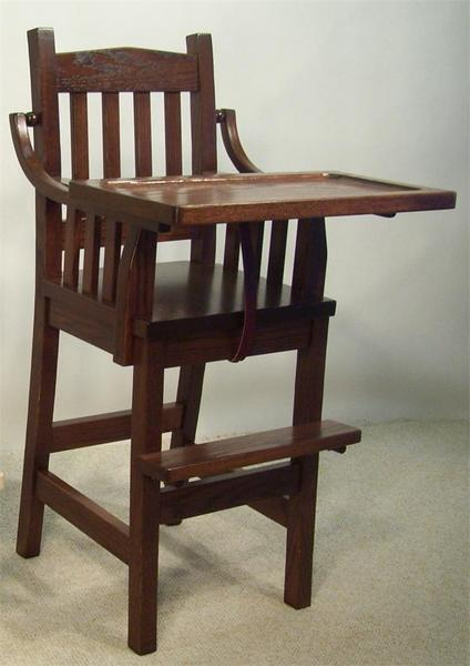 Amish South River Mission Wooden High Chair