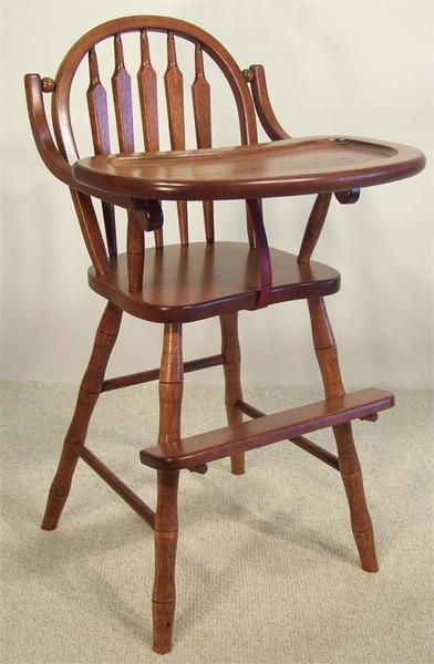 Amish Lancaster Arrow-Back Wooden High Chair