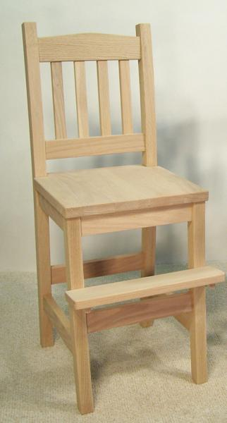 Amish Mission Youth Chair with Foot Step