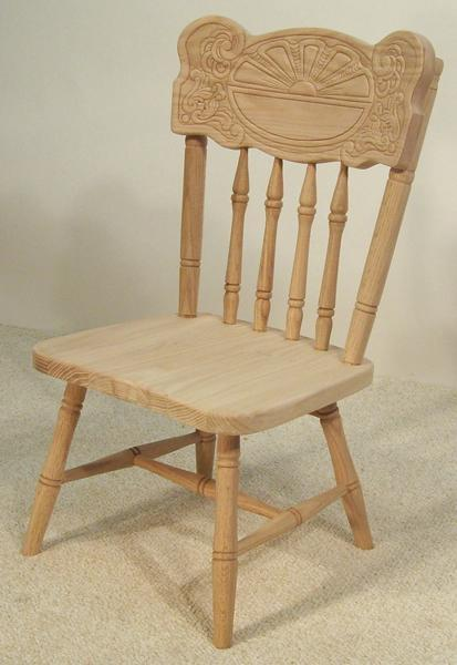Amish Sunburst Child's Chair